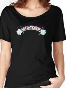 Whatever // Sarcastic Rainbow Pastel Goth Women's Relaxed Fit T-Shirt