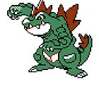 Feraligatr Devamped Sprite Poster by CleverLorises