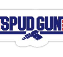Top Gun Spud Gun Sticker
