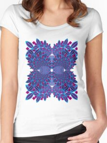 Flower Fractal Women's Fitted Scoop T-Shirt