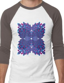 Flower Fractal Men's Baseball ¾ T-Shirt