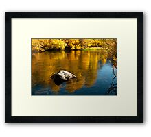 Gold and Blue Framed Print
