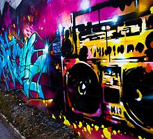 Boombox Graffiti by Eric W Dunthorne