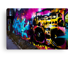 Boombox Graffiti Canvas Print
