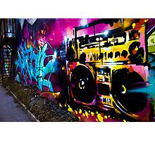Boombox Graffiti Photographic Print