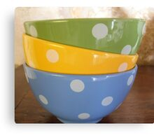 Coloured breakfast bowls 2 Canvas Print