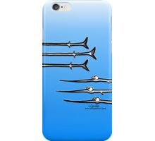 Needlefish Trio by Off-Leash Art iPhone Case/Skin