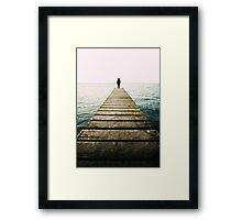 standing alone.. Framed Print