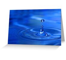 Droplets. Greeting Card