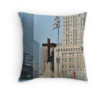Cross Beams Throw Pillow