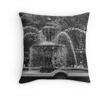 City Hall Fountain Throw Pillow