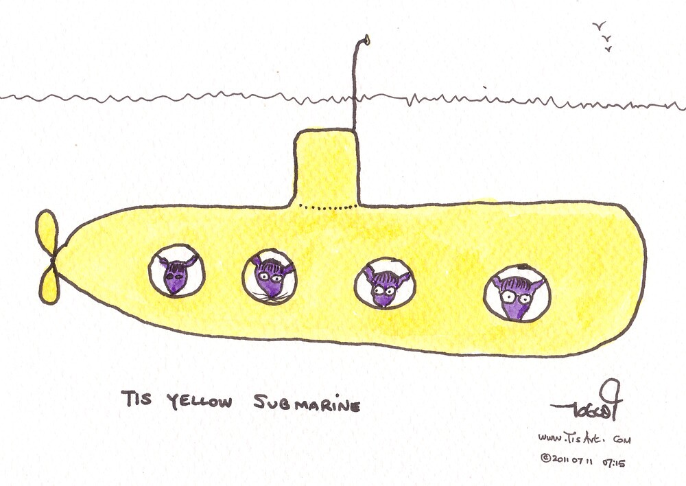 Tis Yellow Submarine by TisArt