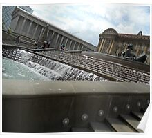The water fountain - side view Poster