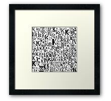 The Letter K Framed Print