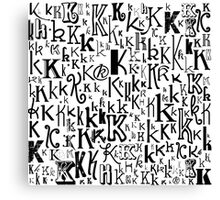 The Letter K Canvas Print