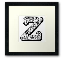The Letter Z, white background Framed Print