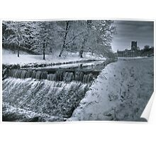 Fountains Abbey in Winter Poster