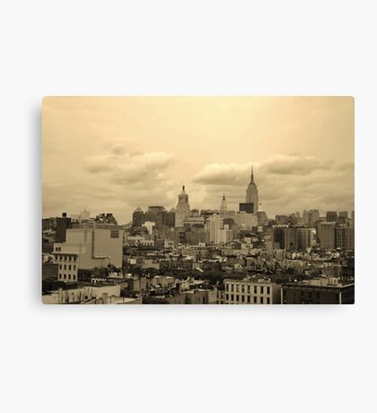 Old World City Canvas Print