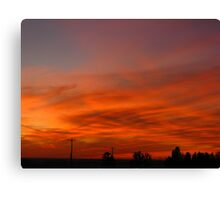 Musky Red Sunset (best viewed larger please) Canvas Print