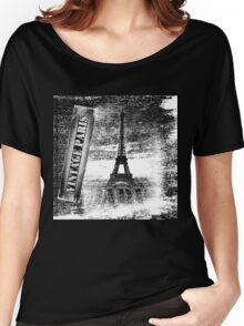 Vintage Eiffel Tower Paris #3 T-shirt Women's Relaxed Fit T-Shirt