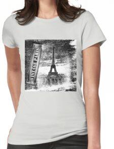 Vintage Eiffel Tower Paris #3 T-shirt Womens Fitted T-Shirt