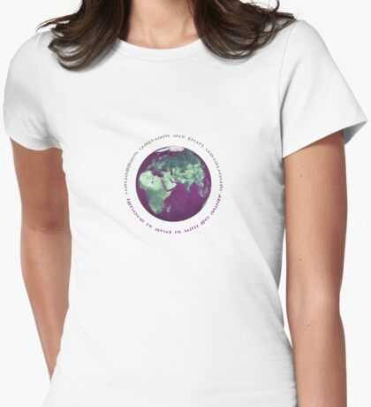 planet earth Womens Fitted T-Shirt