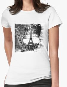 Vintage Eiffel Tower Paris #2 T-shirt Womens Fitted T-Shirt