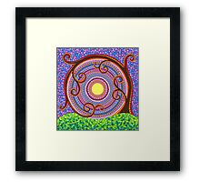 Spiraling and twisting Tree of Life Framed Print