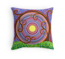 Spiraling and twisting Tree of Life Throw Pillow
