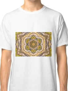 Beautiful handdrawn autumn leaves with kaleidoscope manipulation Classic T-Shirt