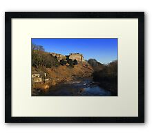 Richmond Castle high above the River Swale, England Framed Print