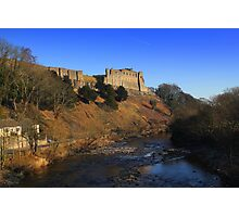 Richmond Castle high above the River Swale, England Photographic Print