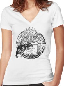 WARPATH Women's Fitted V-Neck T-Shirt