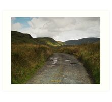 Blue Stack Mountain Road Art Print