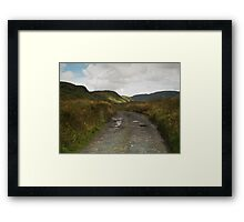 Blue Stack Mountain Road Framed Print