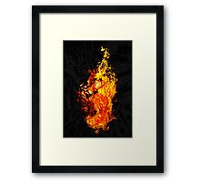 I Will Burn You Framed Print