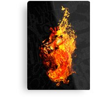 I Will Burn You Metal Print