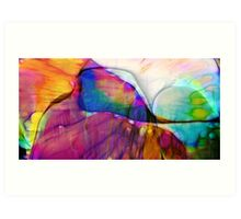 Coloured Abstract Art Print