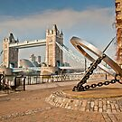 Sundial at Tower Bridge: London by DonDavisUK