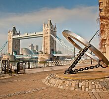 Sundial at Tower Bridge: London by DonDavisUK