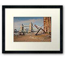 Sundial at Tower Bridge: London Framed Print