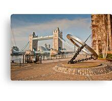 Sundial at Tower Bridge: London Canvas Print