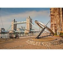 Sundial at Tower Bridge: London Photographic Print