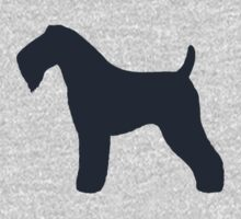 Kerry Blue Terrier Silhouette(s) Baby Tee