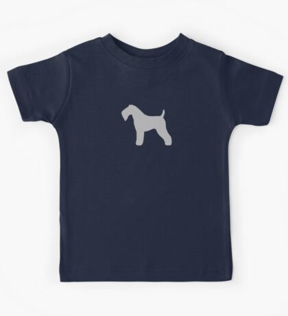 Kerry Blue Terrier Silhouette(s) Kids Tee