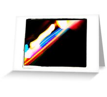 Sea of Neon Lights II Greeting Card