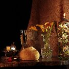 Bread, Butter, White Wine and Calla Lily by FrankSchmidt