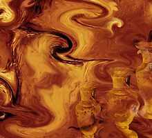 Golden brown- Wall Art Abstract-19 by haya1812