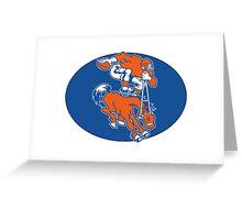 Denver Broncos Logo 2 Greeting Card