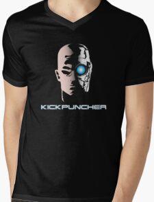 Kickpucnher Mens V-Neck T-Shirt